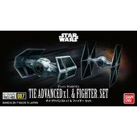 VEHICLE MODEL 007 TIE ADVANCED x 1 & FIGHTER SET