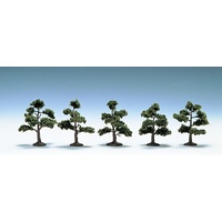 N Scale Broad Leaf Tree / Hardwood (Summer/5pcs)